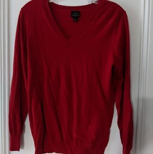Red long sleeve sweater